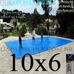 Capa de Piscina Super Lona 10 x 6 PP/PE com +44m+44p+4b