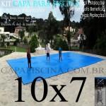 Capa de Piscina Super Lona 10 x 7 PP/PE com +46m+46p+4b