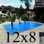 Capa de Piscina Super Lona 12 x 8 PP/PE com +52m+52p+5b