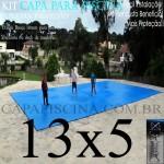 Capa para Piscina de Proteção e Cobertura Super Lona 13 x 5m PP/PE com +88m+88p+5b