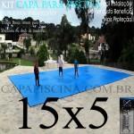 Capa de Piscina Super Lona 15 x 5 PP/PE com +52m+52p+5b
