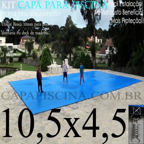 Capa para piscina de prote o e cobertura super lona 10 5 for Piscina 4 x 2