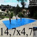 Capa de Piscina Super Lona 14,7 x 4,7 PP/PE com +51m+51p+5b