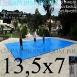 Capa de Piscina Super Lona 13,5 x 7 PP/PE com +56m+56p+5b
