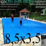 Capa de Piscina Super Lona 8,5 x 3,5 PP/PE com +36m+36p+3b