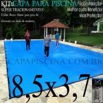 Capa de Piscina Super Lona 8,5 x 3,7 PP/PE com +36m+36p+3b