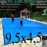 Capa de Piscina Super Lona 9,5 x 4,5 PP/PE com +40m+40p+4b