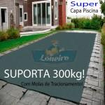 Capa para Piscina de Proteção e Cobertura Super Lona 27 x 13m PP/PE com +176m+176p+ 33 Pet-Bóias