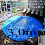 Capa de Piscina Redonda 3,0 metros de Diâmetro PPPE 32m+32p+2b