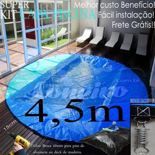 Capa para piscina de prote o e cobertura redonda 4 5 for Piscina 5 metros diametro
