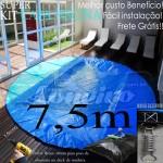 Capa de Piscina Redonda 7,5 metros de Diâmetro PPPE 44m+44p+2b