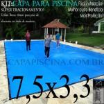 Capa de Piscina Super Lona 7,5 x 3,3 PP/PE com +34m+34p+2b