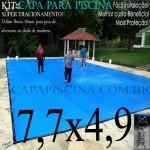 Capa de Piscina Super Lona 7,7 x 4,9 PP/PE com +37m+37p+2b
