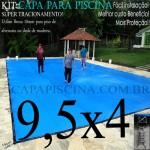 Capa para Piscina de Proteção e Cobertura Super Lona 9,5 x 4m PP/PE com +70m+70p+3b