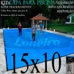 Capa para Piscina de Proteção e Cobertura Super Lona 15 x 10m PP/PE com +116m+116p+16b