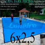 Capa para Piscina de Proteção e Cobertura Super Lona 6 x 2,5m PP/PE com +50m+50p+1b