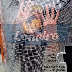 Capa de Piscina para Proteção Cobertura Lona 2,5x2,5 m PVC Transparente + 36m +36p +1 bóia solta